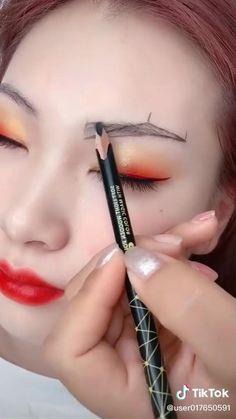 Eyebrow Makeup Tips, Eye Makeup Steps, Eye Makeup Art, Contour Makeup, Makeup Videos, Eyeshadow Makeup, Hair Makeup, Makeup Makeover, Eye Make Up