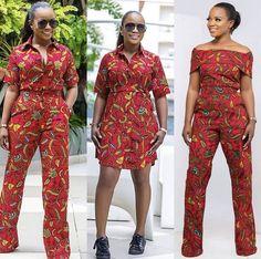 Red Ankara dress top pants - from Diyanu - Ankara Dresses, Shirts & African Print Jumpsuit, Ankara Jumpsuit, African Print Dresses, Ankara Dress, African Dress, African Fashion Ankara, African Inspired Fashion, African Print Fashion, Africa Fashion