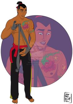 21 More Disney Characters As Modern College Students - 15.  Shang - Mulan - Link: http://hyung86.deviantart.com/art/Disney-University-Shang-372551008