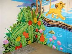 Image Detail for - Disney Mural Jungle corner - gah!!!!  i need someone who can paint!!