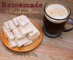 This Eggnog Flavored Homemade Marshmallows Recipe Is Perfect For Holiday Gift Giving Or Making & Dunking In Your Favorite Drinks!