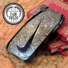 Nike Basketball Glitter - iPhone 4/4s/5/5s/5c Case - Samsung Galaxy S2/S3/S4 Case - Black or White