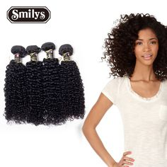 Brazilian Virgin Hair extension 6A Unprocessed Curly hair Wavy Virgin Brazilian Hair Weave human 4 Bundles Jerry Curly