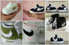 2014 cheap nike shoes for sale info collection off big discount.New nike roshe run,lebron james shoes,authentic jordans and nike foamposites 2014 online. Crochet Converse, Crochet Baby Booties, Crochet Slippers, Estilo Nike, Baskets Au Crochet, Lidia Crochet Tricot, Häkelanleitung Baby, Baby Nike, Baby Sneakers