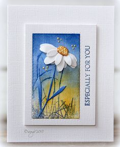A card made for a challenge to create a CAS card with the colors from your country´s flag!! Used these stamps from Penny Black Banner SentimentsDelicate Sihouettesthe stem from this dieBashful Punched