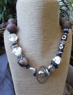 Batik Bead Necklace