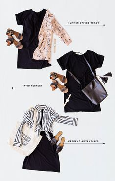 How to wear a T-Shirt Dress in colder and warmer weather - T-Shirt Dress outfit ideas Shirtdress Outfit, Dress Outfits, Fashion Outfits, Womens Fashion, Fashion Tips, Fashion Trends, Fashion Ideas, T Shirt Dresses, Shirt Over Dress