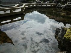 Clouds in the water. Chinese Garden, New Zealand, Gardens, Clouds, River, Outdoor, Outdoors, Outdoor Living, Garden