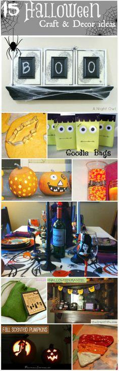 15 Halloween Craft & Decor Ideas ~ Halloween Printables, Halloween Playdough, Halloween Candy Jar, Halloween Birthday Table + More!