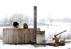 Wood Fired Hot Tub by Iconic Dutch