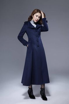 a8b9a8320b Add a touch of style to your outfits with this woman wool coat. This  flattering
