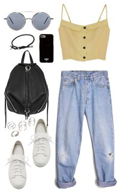 """Untitled #149"" by manerefortis ❤ liked on Polyvore featuring Levi's, Santoni, Rebecca Minkoff, Thom Browne, Givenchy, Forever 21 and David Yurman"
