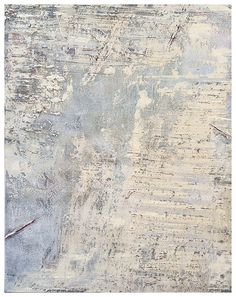 Hewn 1, 2015, Jerry Mclaughlin, mixed media: oil, wax, grit; 16 x 20 in. on wood panel, Oakland, California, USA.