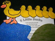 Felt Board/ Flannel Board - 5 Five Ducks Went Out to play, preschool circle time