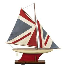 Authentic Models Union Jack Pond Yacht Sailboat