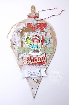 a decorated Christmas bauble by Katharina Frei
