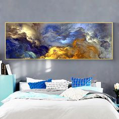 Totally waterproof, you will be amazed by our printing and the lively colors Beautifully crafted with great care Tormented Clouds, Landscape Painting Print on Canvas, Wall Decor Delivered within . Abstract Canvas Art, Oil Painting On Canvas, Canvas Home, Canvas Wall Art, Living Room Paint, Paintings For Living Room, Landscape Walls, Modern Art Prints, Contemporary Wall Art