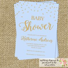 Check out this item in my Etsy shop https://www.etsy.com/listing/224493299/blue-gold-glitter-confetti-baby-shower