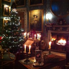 Castle Howard at Christmas, near York, North Yorkshire.  Death comes to Pembrey was filmed here.