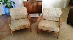 Conant Ball chairs with original upholstery.