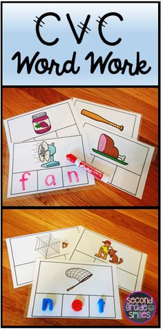 Let's Build with CVC Words-includes 60 word mats to help your students practice spelling words with short a, e, i, o, and u spelled CVC $