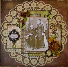 John and Louise Brauch, 1885 ~ Lovely Victorian style heritage wedding page.