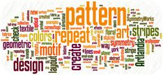 Pattern design terms defined and illustrated