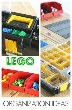 Hardware Store Lego Organization Ideas. Lego storage solutions. Affordable lego ideas. Lego play table idea for kids.