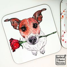 Jack Russell Terrier, Jack Russell, Terrier, New Home, Dog, Birthday Gift, Wedding, Anniversary, Wedding, Coaster, Cup Mat, Terrier Gift Shelter Dogs, Animal Shelter, Animal Rescue, White Terrier, Terrier Mix, Terriers, Chihuahua Dogs, Pet Dogs, Pets