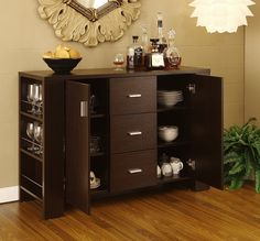 purchased for our dining room. looks much nicer in person, a little darker than the photo. -ash Clayton Cappuccino-finish Dining Buffet | Overstock.com - we bought this and it is even better looking in person!!