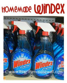 It's Written on the Wall: Tips & Tricks--Homemade Natural Cleaners for your Home