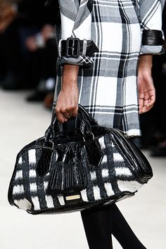 Burberry black and white