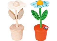 Collapsible Wooden Flower Pot Pack of 6