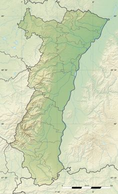 Between the Vosges Mountains and the Rhine River: relief map of Alsace
