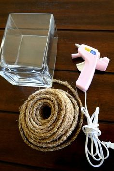 Easy Rope Vase DIY