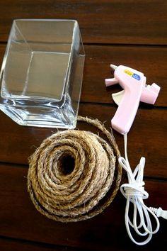 Easy Rope Vase DIY