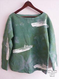 100% bawełna, handmade, ręcznie barwiona, ręczy sitodruk, unisize