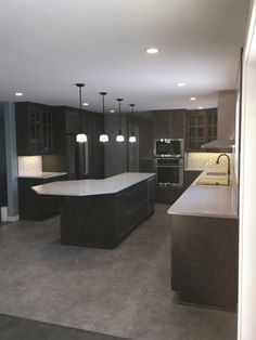 This was a massive home renovation, with the focus on kitchen construction. Our custom designed solution created open concept, contemporary space the family Farmhouse Renovation, Home Renovation, Kitchen Renovations, Open Concept, Custom Design, Construction, Contemporary, Building, Kitchen Remodeling