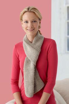 Free Knitting Pattern L10262 Single-Strand Garter Ridge Scarf : Lion Brand Yarn Company
