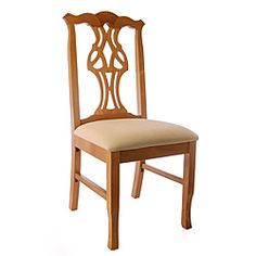 Honey Oak Wood Chippendale Side Chair | Overstock.com Shopping - The Best Deals on Dining Chairs