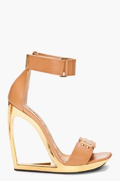 Hollow gold wedge. Yum! by Lanvin.