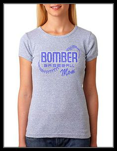 Image detail for -BOMBER BASEBALL MOM RHINESTONE SHIRT