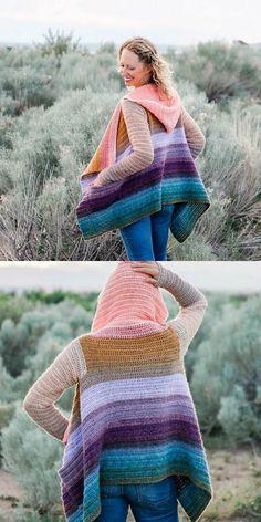 Remix Cardigan Free Crochet Pattern