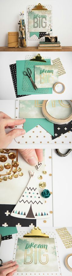 This inspirational DIY clipboard is super easy to make and requires just a few supplies. You probably already have most of them on hand!