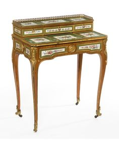 "Stepped table called ""  bonheur du jour  ""stamp of Martin Carlin, 1766"