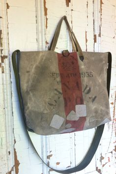 1935 reconstructed vintage canada post messenger bag by yahbag Canada Post 5f79b35178b3a