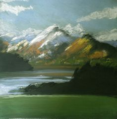 Cumbrian Mountains 1 - Original Pastel and Chalk Drawing/ Painting. $90.00, via Etsy.