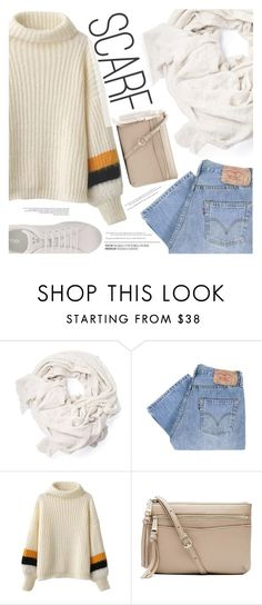 """Winter Scarf Style"" by aislinnhamilton1993 on Polyvore featuring Levi's, Witchery, Fendi, Winter, cozy, scarf and polyvorecontest"