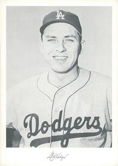 1960 Danny Goodman Los Angeles Dodgers Set A #NNO Gil Hodges Front