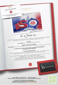 """""""So 14 Juillet 2015"""" au Sofitel So Mauritius. Tél: 605 5800"""